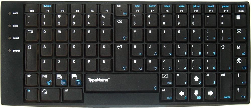 TypeMatrix 2030 USB Skin - Dvorak