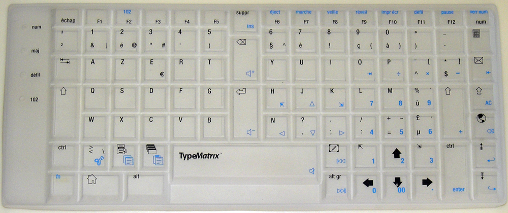 Belgian Azerty Translucent
