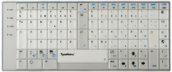 TypeMatrix 2030 Skin - Clear Swedish QWERTY labeled Skin (038-C)